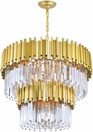CWI 1112P32-12-169 Deco Medallion Gold 32  Drop Ceiling Light Fixture