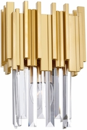 CWI 1112W8-1-169 Deco Medallion Gold Wall Lighting Fixture