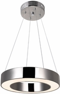CWI 1131P12-613 Ringer Modern Polished Nickel LED Pendant Lighting