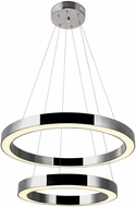 CWI 1131P20-2-613 Ringer Contemporary Polished Nickel LED Pendant Light
