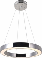 CWI 1131P20-613 Ringer Contemporary Polished Nickel LED Lighting Pendant
