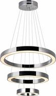 CWI 1131P28-3-613 Ringer Contemporary Polished Nickel LED Pendant Lamp