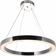 CWI 1131P28-613 Ringer Contemporary Polished Nickel LED Hanging Lamp
