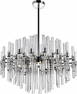 CWI 1137P26-10-613 Miroir Contemporary Polished Nickel Halogen Hanging Chandelier