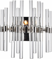 CWI 1137W10-1-613 Miroir Contemporary Polished Nickel Halogen Wall Sconce Light