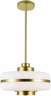 CWI 1143P12-1-270 Elementary Modern Pearl Gold 12 Hanging Light