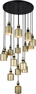 CWI 1144P24-16-270 Forate Contemporary Pearl Gold LED Multi Hanging Pendant Lighting