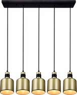 CWI 1144P33-5-270 Forate Modern Pearl Gold LED Multi Hanging Pendant Light