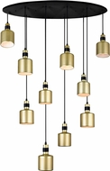 CWI 1144P40-10-270 Forate Contemporary Pearl Gold LED Multi Pendant Hanging Light