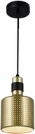 CWI 1144P5-1-270 Forate Modern Pearl Gold LED Mini Drum Hanging Light Fixture