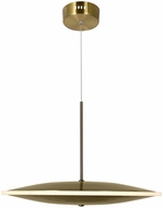 CWI 1204P16-1-625-A Ovni Contemporary Brass LED Hanging Lamp