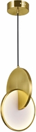 CWI 1206P10-1-629 Tranche Contemporary Brushed Brass LED Mini Ceiling Light Pendant