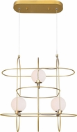 CWI 1209P20-3-169 Orbit Modern Medallion Gold LED Multi Pendant Lighting Fixture