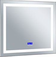CWI 1232W30-36-B-6000K Abril Contemporary Matte White LED Wall Mounted Mirror