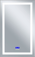 CWI 1232W30-49-B-6000K Abril Contemporary Matte White LED Wall Mounted Mirror