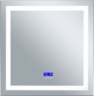 CWI 1232W36-36-B-6000K Abril Contemporary Matte White LED Wall Mounted Mirror
