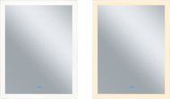 CWI 1233W30-36 Abigail Contemporary Matte White LED Wall Mounted Mirror
