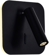 CWI 1242W6-101 Private I Contemporary Matte Black LED Wall Light Sconce