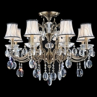 CWI 2016C30AB-8 Flawless Antique Brass Chandelier Light