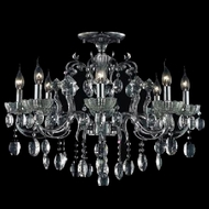 CWI 2026C24C-6 Flawless Chrome Mini Ceiling Chandelier
