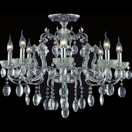 CWI 2026C30C-8 Flawless Chrome Hanging Chandelier