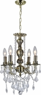 CWI 2031P14AB-4 Brass Antique Brass Mini Chandelier Lighting