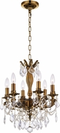 CWI 2035P18GB-6 Brass French Gold Mini Chandelier Light