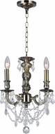CWI 2038P14AB-3 Brass Antique Brass Mini Hanging Chandelier