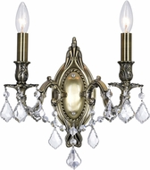 CWI 2038W9AB-2 Brass Antique Brass Wall Lighting Fixture
