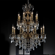 CWI 2039P30GB-16 Brass French Gold Chandelier Lamp