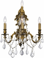 CWI 2039W18GB-4 Brass French Gold Wall Lamp