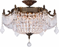 CWI 2048C22GB Brass French Gold 22 Flush Mount Lighting Fixture