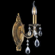 CWI 2050W5GB-1 Brass French Gold Lighting Sconce