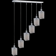 CWI 4286P-RC-S Clear crystal Glitz Contemporary Chrome Halogen Multi Hanging Light Fixture