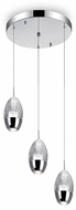 CWI 5077P10C-R Perrier Chrome LED Multi Ceiling Light Pendant