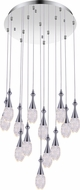 CWI 5110P24C-R Dior Chrome LED Multi Hanging Pendant Light