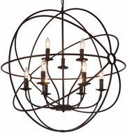 CWI 5464P32DB-9 Arza Contemporary Brown 32 Hanging Light Fixture