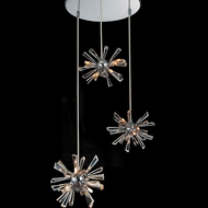 CWI 5572P15C-R(S) Flair Modern Chrome Halogen Multi Pendant Light Fixture