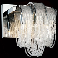 CWI 5615W9C Engaged Chrome Halogen Wall Light Sconce