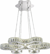 CWI 5616P27ST-R Odessa Chrome LED 27  Hanging Light Fixture