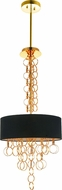 CWI 5627P16G Chained Contemporary Gold 16 Drum Drop Ceiling Light Fixture