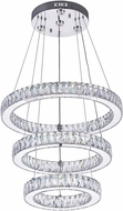 CWI 5635P20ST-3R (Clear) Florence Chrome LED Pendant Lighting Fixture