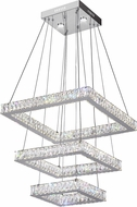 CWI 5635P21ST-3S (Clear) Florence Chrome LED Hanging Pendant Lighting