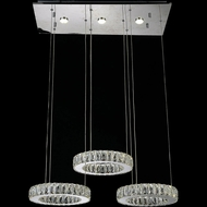 CWI 5635P27ST-RC Florence Chrome LED Multi Pendant Hanging Light