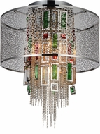 CWI 5647C18C Stained Chrome Ceiling Light Pendant
