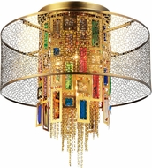CWI 5647C18G Stained Gold Ceiling Pendant Light