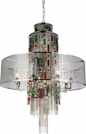 CWI 5647P32C Stained Chrome 32 Drum Pendant Lighting