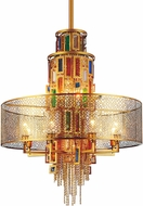 CWI 5647P32G Stained Gold 32 Drum Pendant Light