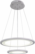CWI 5665P20-2-103 Alloha Contemporary White LED 20  Hanging Light Fixture