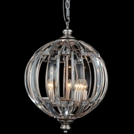 CWI 5686P18-5-108 Colorado Modern Antique Forged Silver 18  Pendant Lamp